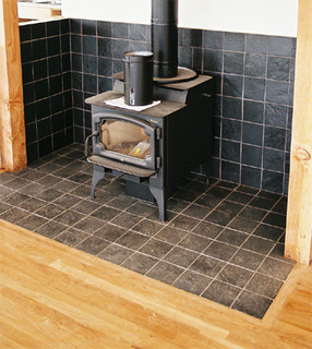 Wood Burn Stove Area Kitchen Portland By Custom By Trade
