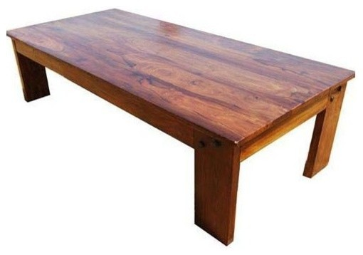 amish wood large rectangular rustic coffee table
