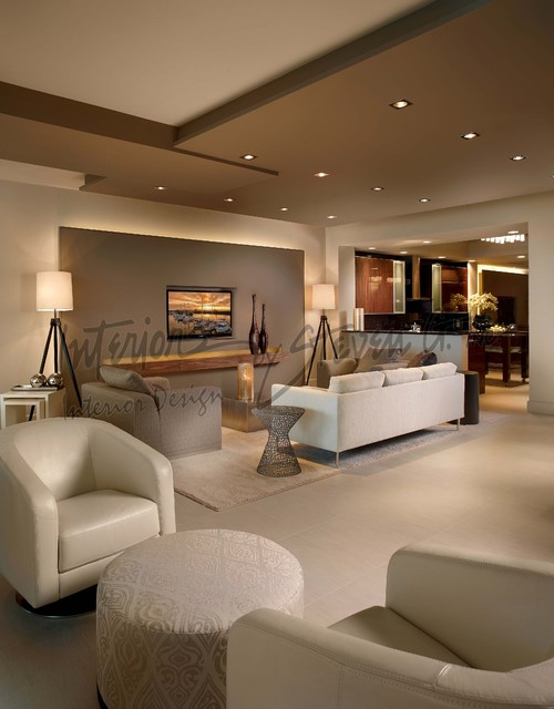 Interiors By Steven G Contemporary Living Room Miami By
