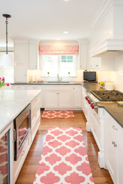 coral kitchen cabinet colors Delightful Lure - Traditional - Kitchen - Philadelphia