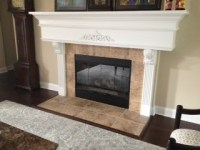 Can I paint over the fireplace tile?