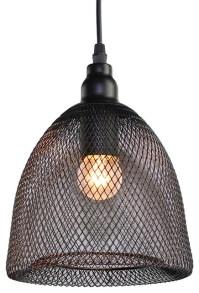 Chicken Wire Dome Pendant Light - Industrial - Pendant ...