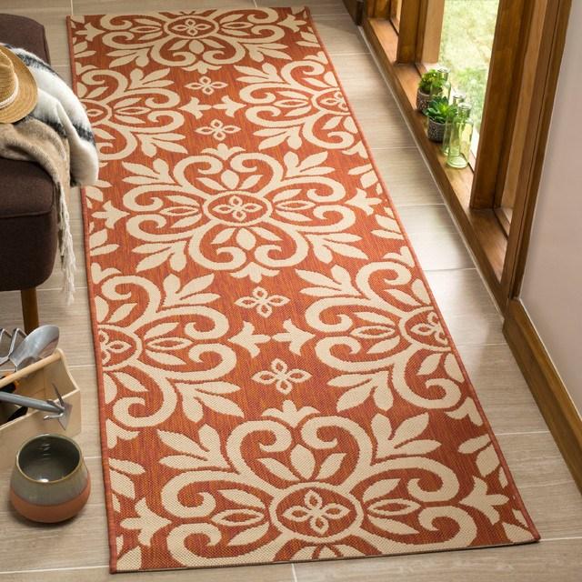 Martha Stewart Bloomfield Rug Cinnamon Stick Contemporary | Stick On Stair Runners | Hardwood | Stick Serged | Beige Carpet | Wood | Carpet Tiles