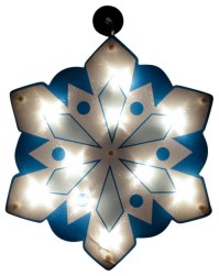 "14"" Lighted Holographic Snowflake Christmas Window ..."