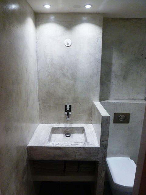 shelving for living room walls interior colors concrete wall complete bathroom - modern ...