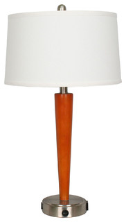 "Fangio Lighting 27.5"" Tech Table Lamp With USB Outlet"