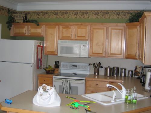 Raising kitchen cabinets higher