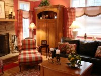French country casual family room