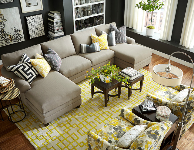 HGTV HOME Design Studio Double Chaise Sectional By Bassett