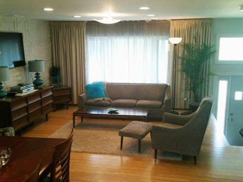 '72 Ranch Living Room Makeover