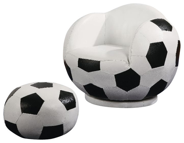 kids sports chairs pyramat gaming chair coaster small soccer and ottoman contemporary by homesquare