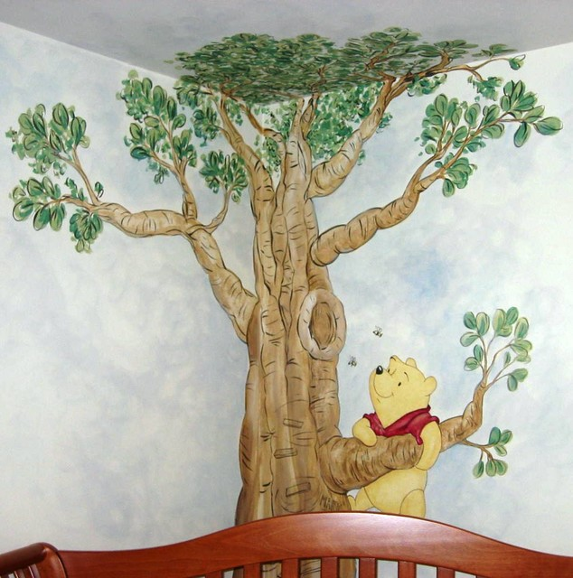 Winnie the Pooh Mural  Traditional  Kids  Raleigh  by ArtrageousARTcom