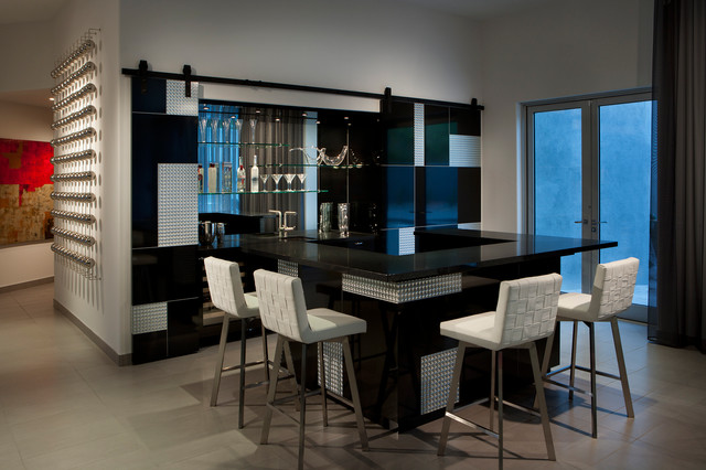 Bar  Contemporary  Home Bar  Phoenix  by Angelica Henry Design