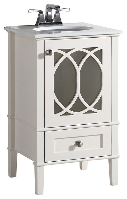 adeliza vanity with white quartz marble top - transitional
