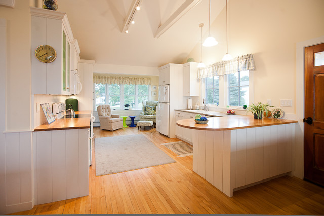 Small Beach House Renovation Beach Style Kitchen Portland