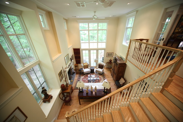 2 Story Great Room from Library Balcony