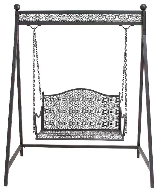 Modern and Classic Inspired Fun Metal Swing Living Room