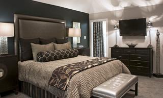 black and grey bedroom