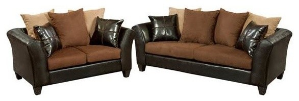 microfiber living room furniture sets matching 2 piece set black and red brown