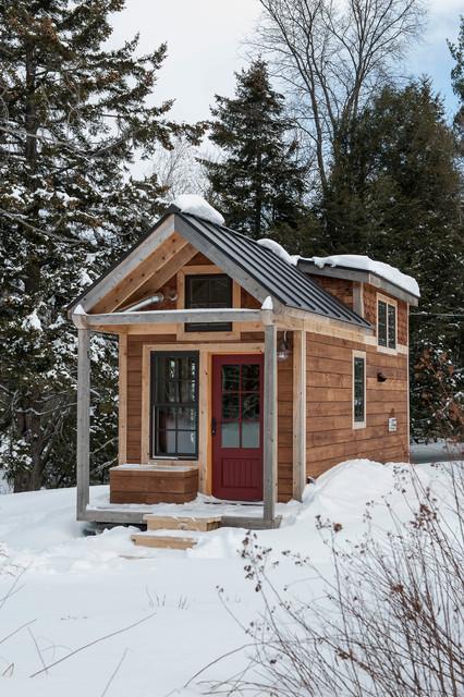 Tiny House  Rustic  Exterior  Burlington  by Cushman Design Group