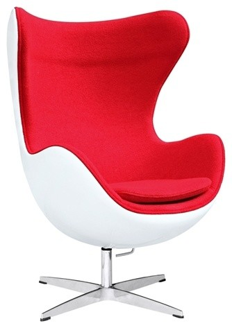 mid century egg chair wedding cover hire belfast premium cashmere wool and white fiberglass shell red