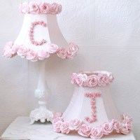 Personalized Monogram Pink Roses Table Lamp - Modern ...