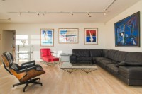 90s design two story penthouse - Contemporary - Living ...