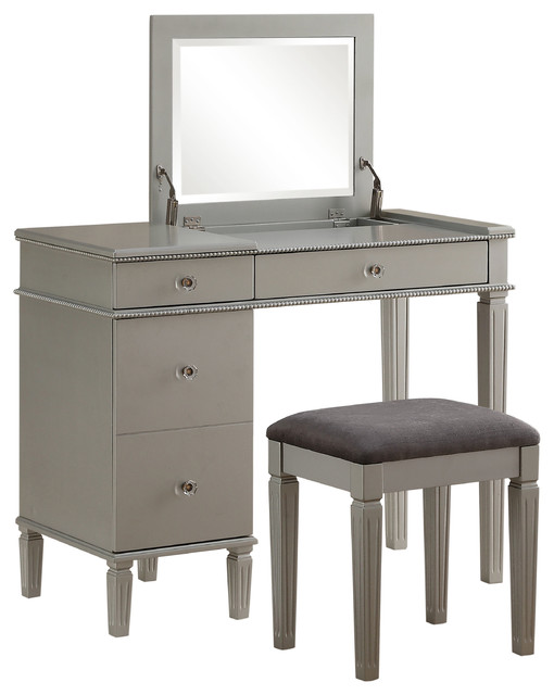 fortescue bedroom vanity, 2-piece set - transitional - bedroom