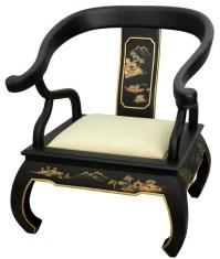 Black Landscape Ming Chair