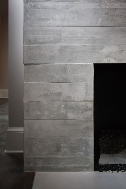 Concrete BoardFormed Fireplace Surround  Modern  Living Room  Atlanta  by Turning Stone Design