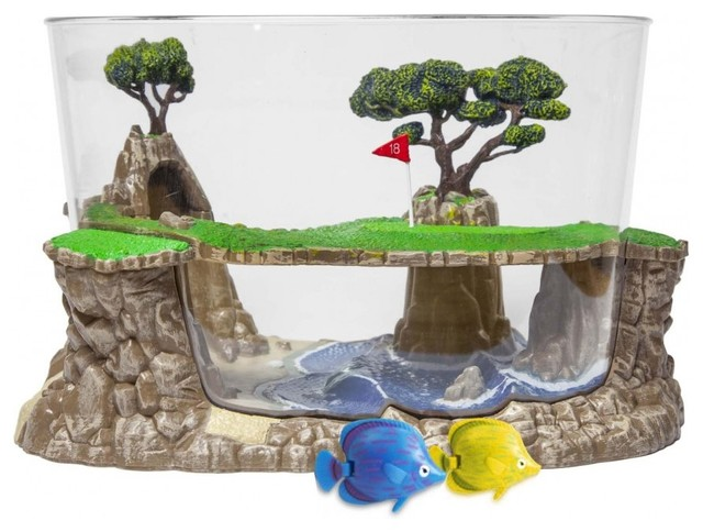 Image result for golf course fish tank
