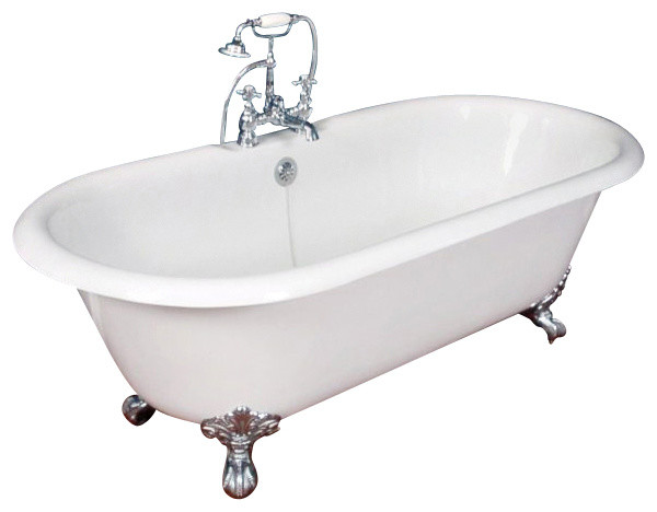 "67"" Cast Iron Double Ended Clawfoot Tub"