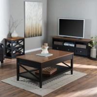 Belham Living Hampton Living Room Collection - Black/Oak ...