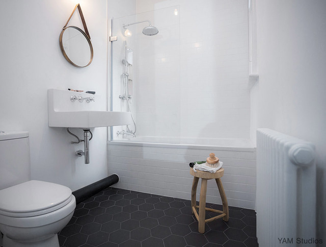 small living room with tv ideas wallpaper brixton pad - scandinavian bathroom london by yam ...