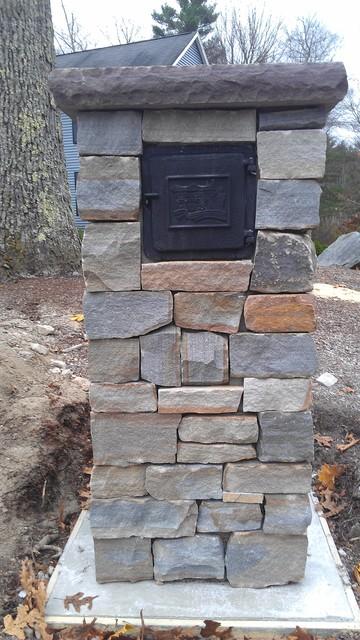 stone mailbox - rustic landscape
