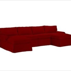 Sierra Red Living Room Sectional Nice Pictures Pb Basic 3-piece U-shaped Slipcover, Twill ...