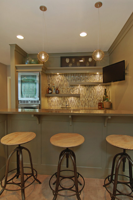 Great Neighborhood Homes transitional-home-bar