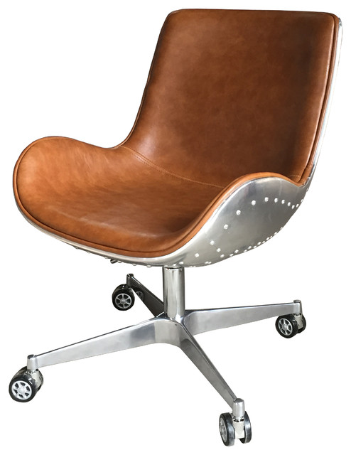 Abner Swivel Chair  Industrial  Office Chairs  by New