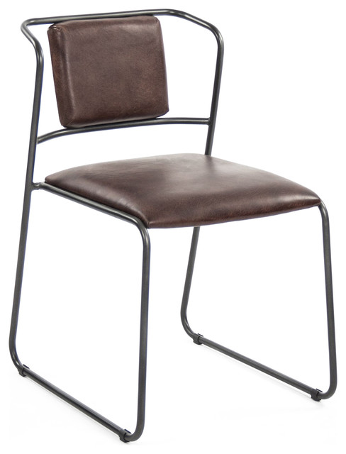 industrial dining chair what is a geri artemis mid century modern rustic iron leather chairs by kathy kuo home