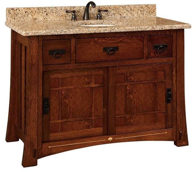 Morgan Bathroom Vanity Hickory Natural Wood Door  Bathroom Vanities And Sink Consoles  by