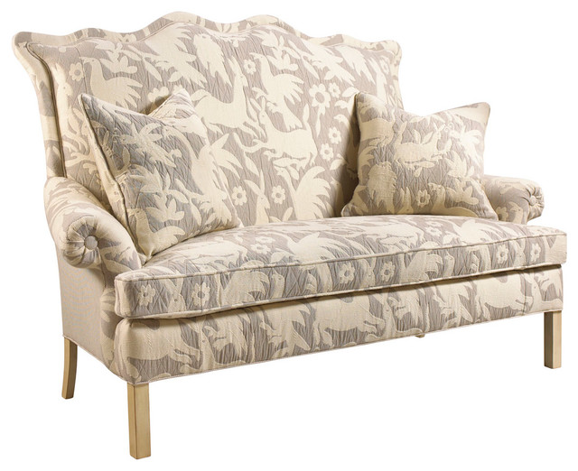 Beautiful Beziers French Country Farm Animals Upholstered Small Sofa. Traditional ...