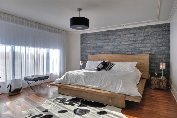 modern rustic bedroom Modern Rustic Master Bedroom - Contemporary - Bedroom - Montreal - by Carpette Multi Design