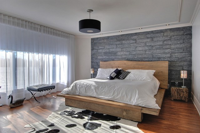 modern rustic bedroom | houzz
