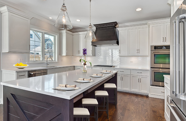 Classic Coastal  Transitional  Kitchen  Chicago  by