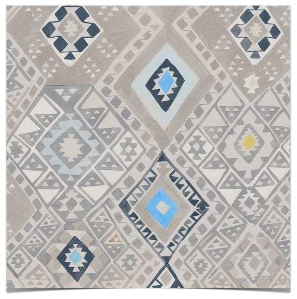 home theatre sofas india most expensive sofa beds kilim wallpaper, caspian blue - eclectic wallpaper by ...
