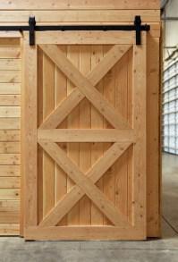 Interior Rustic Barn Door with double Crossbuck & Sliding ...