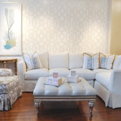 Los Angeles Sectional Sofa Cheap Suites Birmingham Large White Slipcovered - Beach Style Living ...