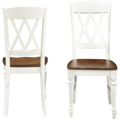 Farmhouse Dining Chairs Leckey Activity Chair Inverness Set Of 2 White And Oak