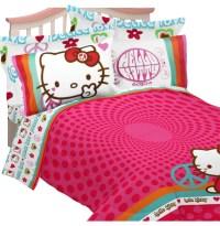Hello Kitty Full Bedding Peace Sign Comforter Sheets Shams ...