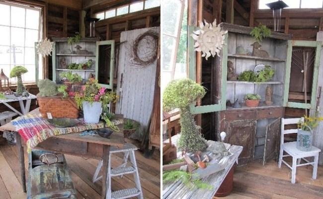 Backyard Potting Shed Garden Eclectic Shed Atlanta